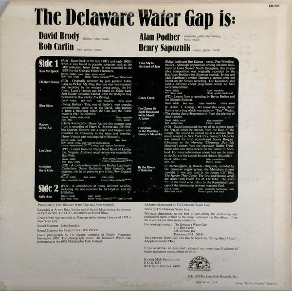DELAWARE WATER GAP <BR>FROM THE RIVERS OF BABYLON TO THE LAND OF JAZZ