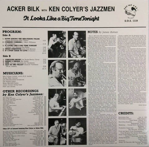 ACKER BILK WITH KEN COLYER'S JAZZMEN <BR>TOGETHER AGAIN