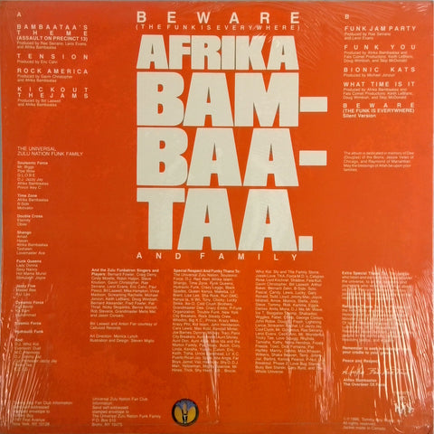 AFRIKA BAMBAATAA <BR>BEWARE (THE FUNK IS EVERYWHERE)