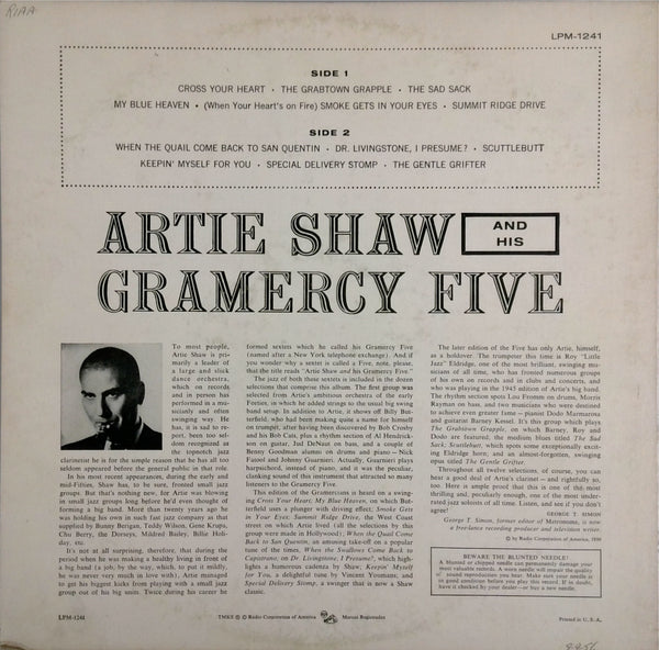 ARTIE SHAW AND HIS GRAMERCY FIVE <BR>ARTIE SHAW AND HIS GRAMERCY FIVE