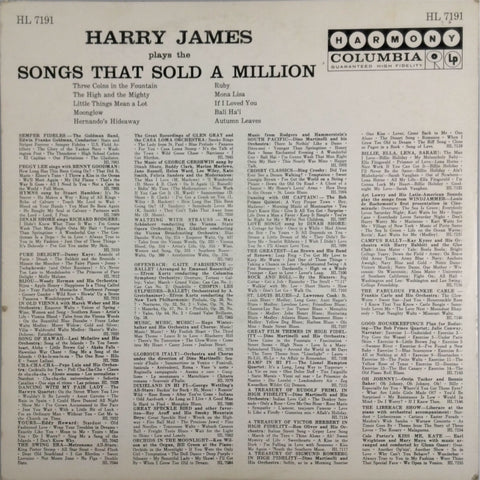 HARRY JAMES <BR>HARRY JAMES PLAYS SONGS THAT SOLD A MILLION
