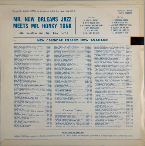"PETE FOUNTAIN <BR>MR. NEW ORLEANS MEETS MR. HONKY TONK ""BIG"" TINY LITTLE"