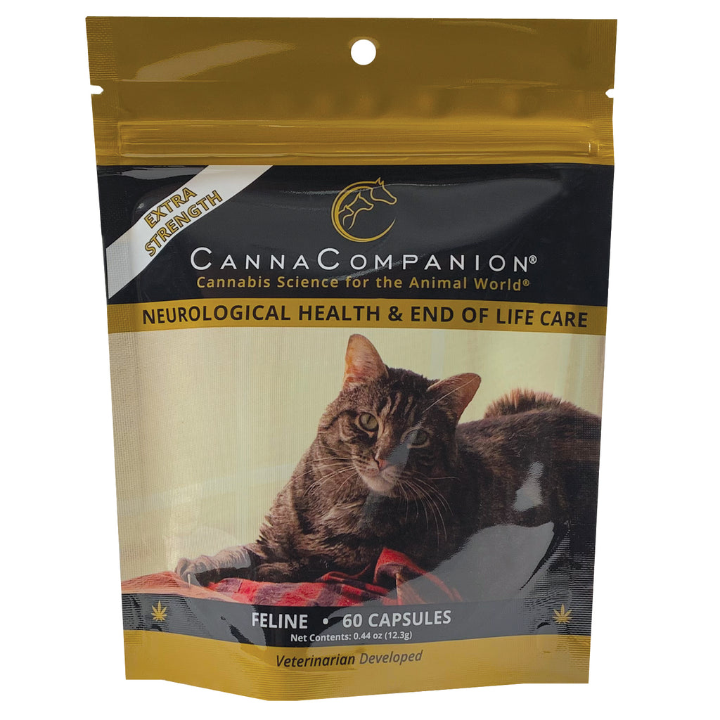 package of 60 extra strength cbd capsules for cats