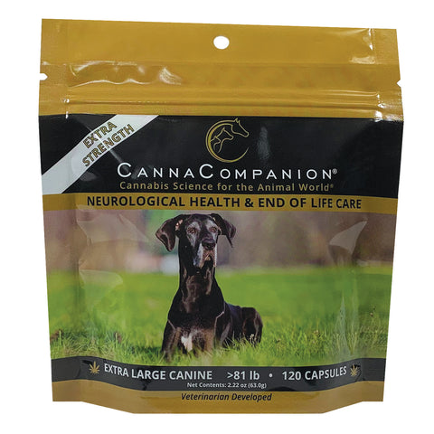 package of extra strength cbd capsules for extra large dogs