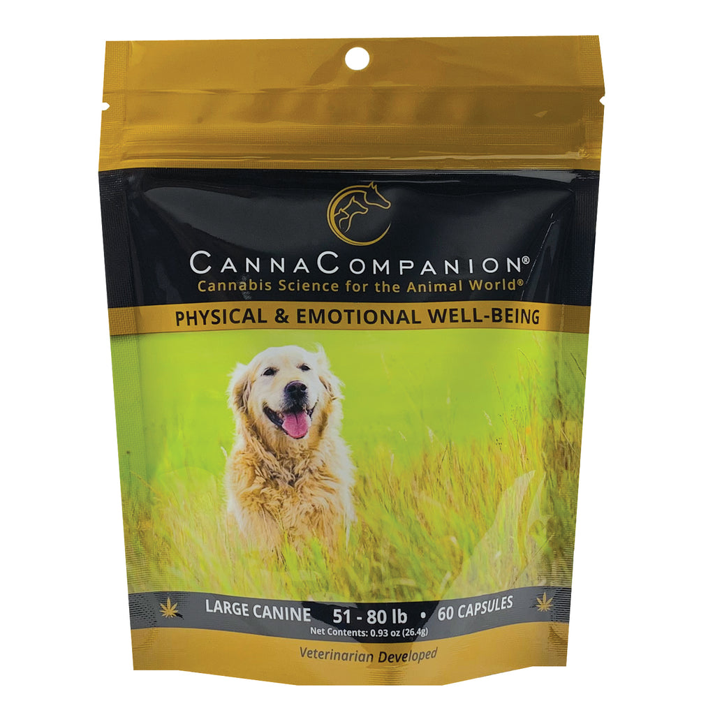 package of 60 cbd capsules for large dogs