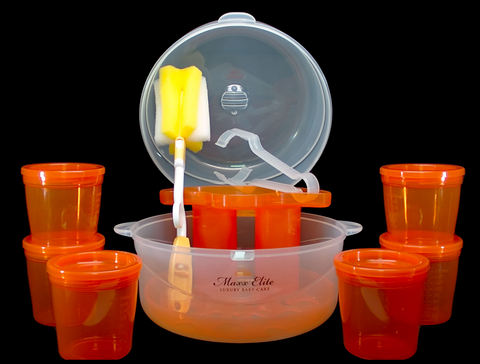 "Maxx Elite ""Clear"" Microwave Sterilizer Gift Set"