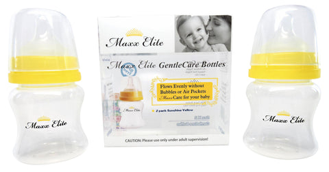 Maxx Elite Gentle Care Bottles 5oz. Beautiful Blue/ Sunshine Yellow