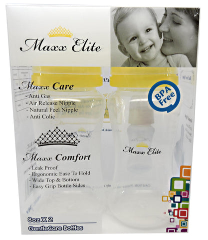 Maxx Elite Gentle Care Bottles 8oz Beautiful Blue / Sunshine Yellow