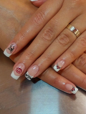 Edgy Nail Tattoo Set - AsIfTattooed.com