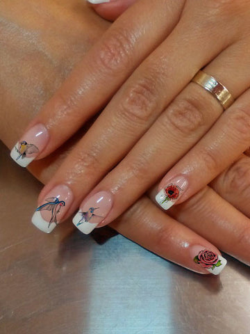 Birds and Blooms Nail Tattoo Set