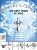 Stairway To Heaven Temporary Tattoo Set - AsIfTattooed.com