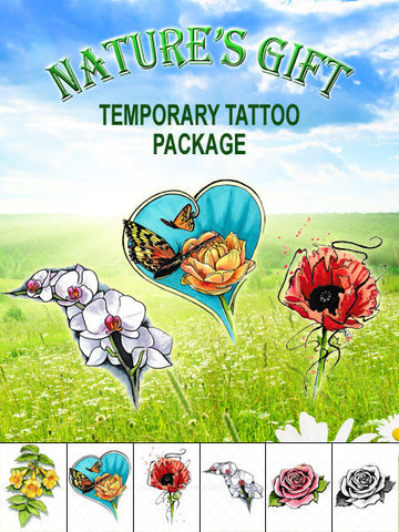 Nature's Gift Temporary Tattoo Set - AsIfTattooed.com