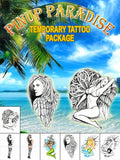 Pin-Up Paradise Temporary Tattoo Set - AsIfTattooed.com