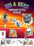 His & Hers Temporary Tattoo Set - AsIfTattooed.com