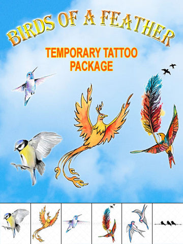 Birds of a Feather Temporary Tattoo Set - AsIfTattooed.com