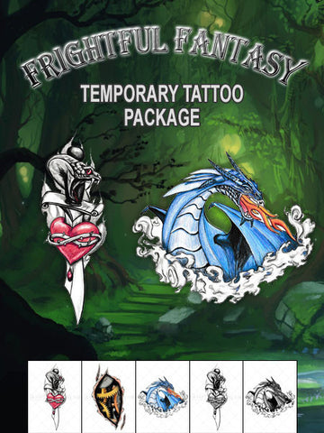 Frightful Fantasy Temporary Tattoo Set - AsIfTattooed.com