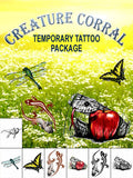 Creature Corral Temporary Tattoo Set - AsIfTattooed.com
