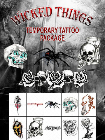 Wicked Little Things Tiny Tats Set - AsIfTattooed.com
