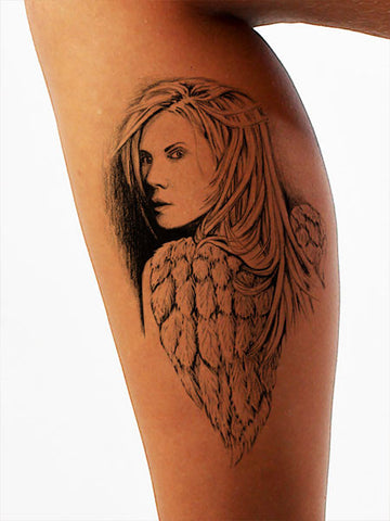 Warrior Angel Tattoo - AsIfTattooed.com