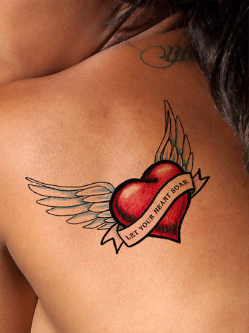 Soaring Heart Tattoo - AsIfTattooed.com