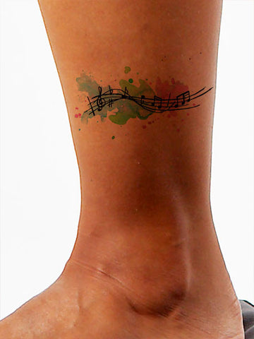 Melody Music Tattoo - AsIfTattooed.com