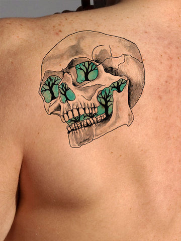 Glowing Skull Tattoo - AsIfTattooed.com