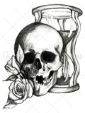 Hourglass & Skull Tattoo - AsIfTattooed.com