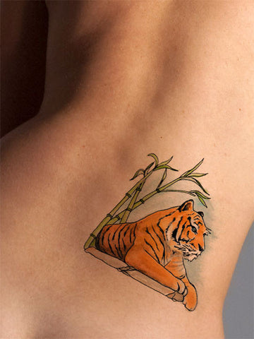 Regal Tiger Tattoo - AsIfTattooed.com
