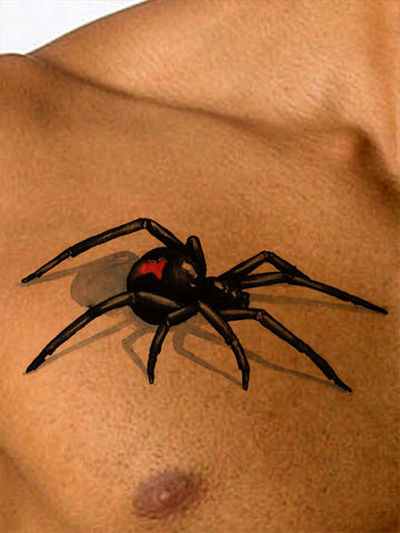 Black Widow Spider Tattoo - AsIfTattooed.com
