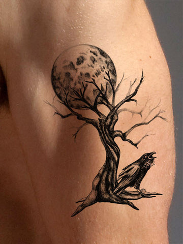 Creepy Tree Tattoo - AsIfTattooed.com