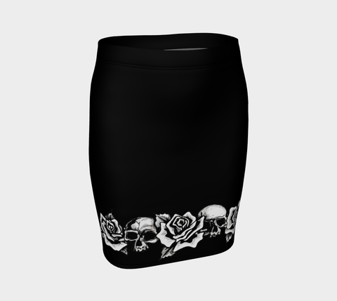 Skull & Rose Tattoo Skirt - AsIfTattooed.com
