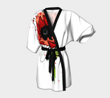 Poppy Flower Tattoo Kimono Robe - AsIfTattooed.com