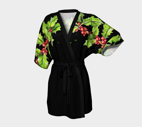 Christmas Holly Shoulder Robe