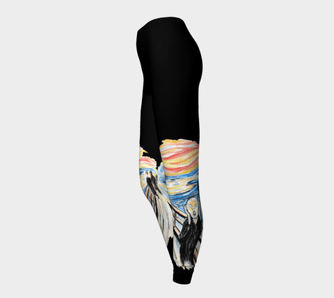 The Scream Art Tattoo Leggings - AsIfTattooed.com