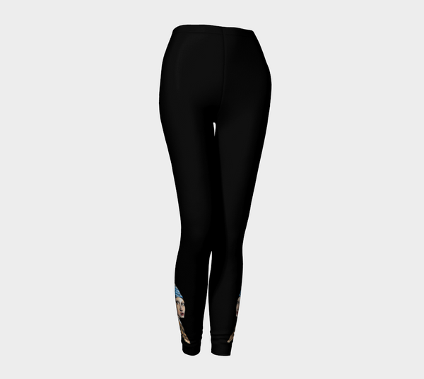 Pearl Earring Art Tattoo Leggings - AsIfTattooed.com