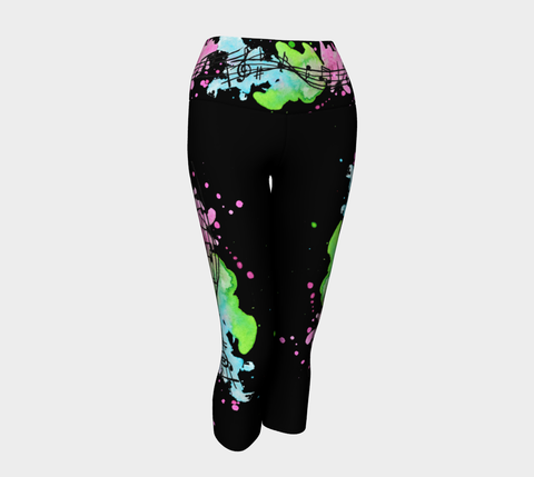 Melody Music Tattoo Yoga Capris - AsIfTattooed.com