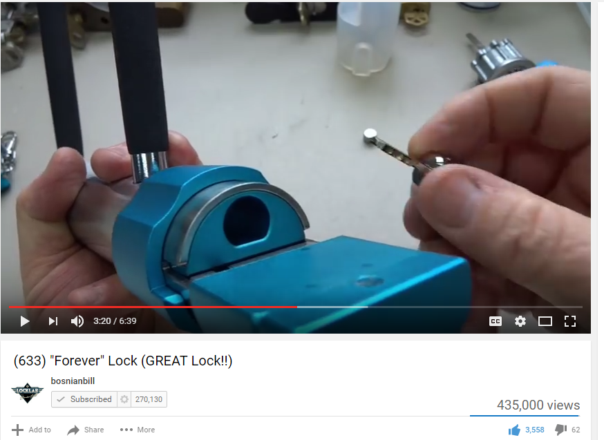 "Lock Expert ""Bosnian Bill"" gives his critical review of the Forever Lock™ Bicycle U-Lock!"