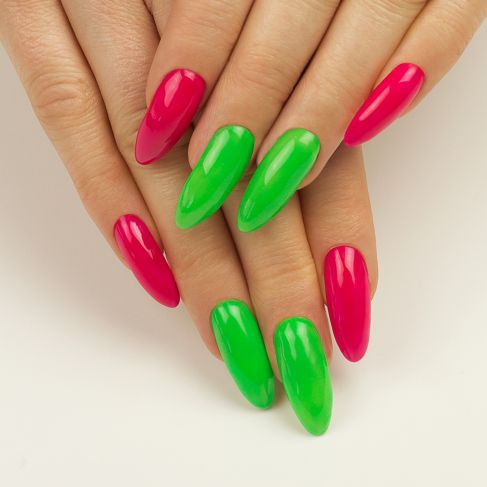 "103 Elegant Raspberry - Semilac Soak Off Gel Off / Hybrid Nail Polish - ""Tropical Drinks"" Collection - SemilacUSA"