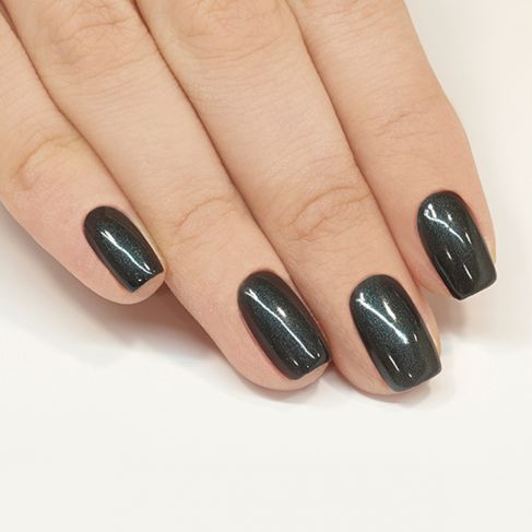 "108 Metallic Black - Semilac Soak Off Gel / Hybrid Nail Polish - ""Black & White"" Collection - SemilacUSA"