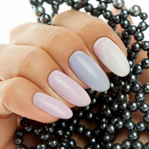 "127 Violet Cream - Semilac Soak Off Gel / Hybrid Nail Polish - ""Sweets & Love"" Collection - SemilacUSA"