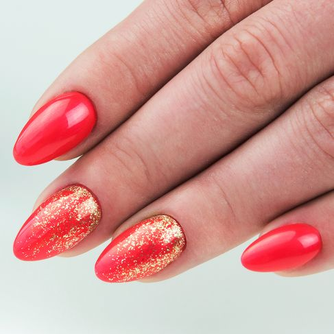 "153 Red Magnat - Semilac Soak Off Gel / Hybrid Nail Polish - ""Unique"" Collection - SemilacUSA"