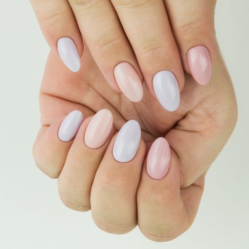 "198 Powder Pink - Semilac Soak Off Gel / Hybrid Nail Polish - ""Business Line"" Collection - SemilacUSA"