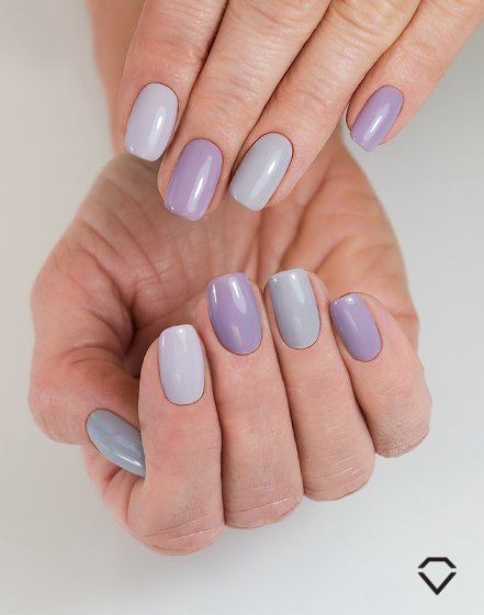 "225 Smoky Lila - Similac Soak Off Gel / Hybrid Nail Polish - ""Business Line"" Collection - SemilacUSA"