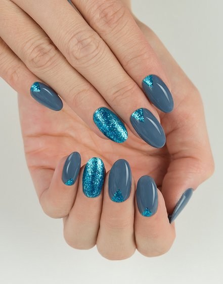 "254 TURQUOISE - Semilac Soak Off Gel / Hybrid Nail Polish - ""Platinum"" Collection - SemilacUSA"