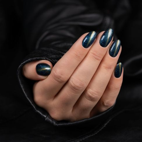 "311 TURQUOISE Semilac Soak Off Gel / Hybrid Nail Polish - ""MAGIC CAT EYE"" Collection - SemilacUSA"