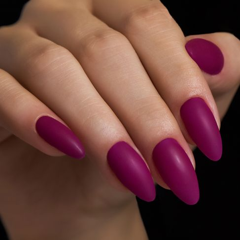 "504 Magenta Mood Semilac By Maxineczka ""Purple Mania"" - Soak Off Gel / Hybrid Nail Polish - SemilacUSA"