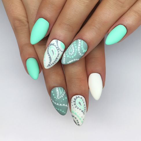 "508 Mint Cream Semilac By Stylizacje ""Nails On Fleek"" - Soak Off Gel / Hybrid Nail Polish - SemilacUSA"