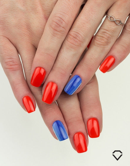 "519 Full Orange - Semilac Soak Off Gel / Hybrid Nail Polish - ""Semibeats"" Collection - SemilacUSA"