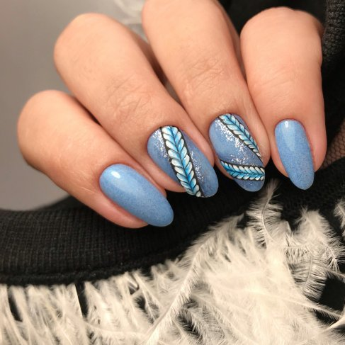 "549 COLD AS ICE - Semilac Soak Off Gel / Hybrid Nail Polish - ""SWEATER WEATHER"" Collection - SemilacUSA"