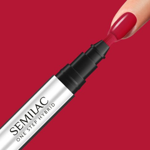 550 PURE RED Semilac STEP ONE Hybrid / Gel Polish Marker - SemilacUSA